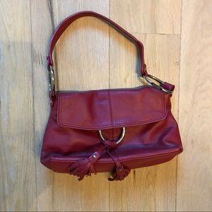 Alfani Red Leather Handbag